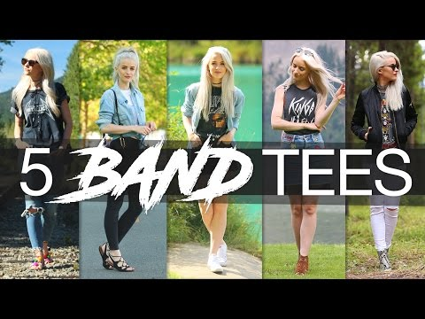 HOW TO STYLE: BAND TEES | 5 WAYS