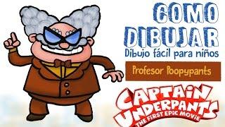 Como dibujar Captain Underpants Poopypants /how to draw professor poopypants