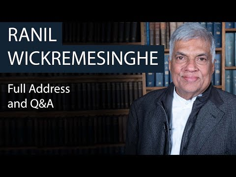 Ranil Wickremesinghe | Full Address and Q&A | Oxford Union