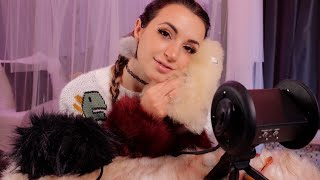 ASMR | Fluffy, Comfy, Cozy Ear Attention | Brushing & Fuzzy Cuffs