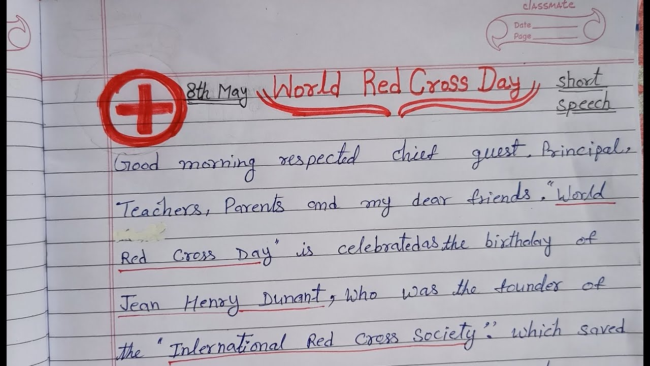 Essay on world red cross day thesis writing depression
