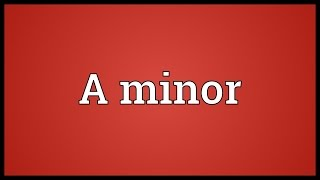 A minor Meaning