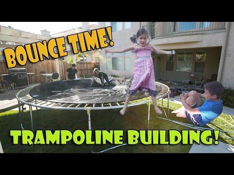BOUNCE TIME! Skywalker Trampoline Building Action!