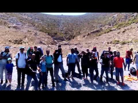 Refugee rescue operation on Tilos Island