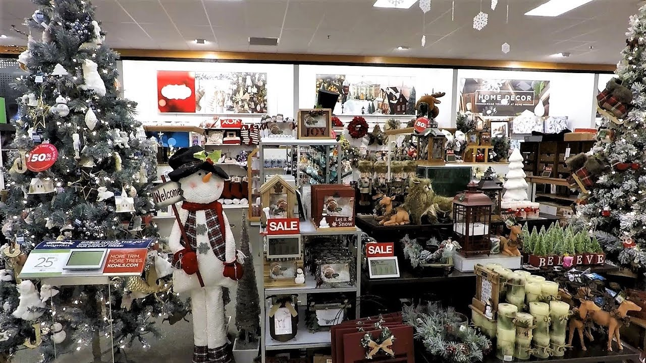 kohls christmas decor christmas decorations christmas shopping kohls store 4k - Christmas Decoration Store