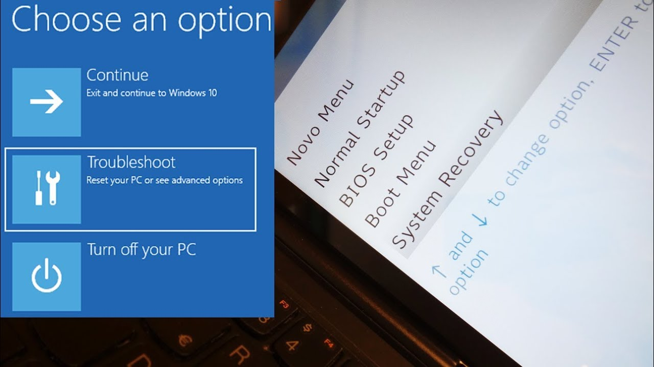 Lenovo MIIX 300 | Hard Factory Reset W10 - Novo Menu - USB boot - Enter BIOS