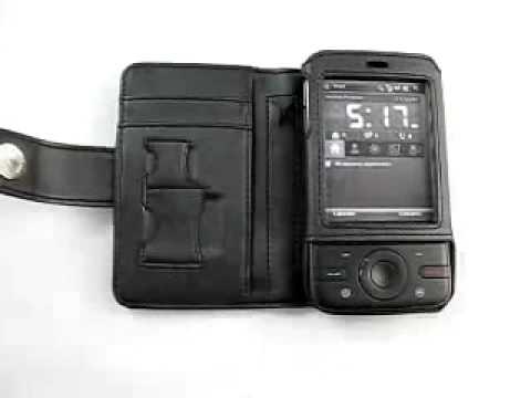 Capa de couro Premium Full proteção Horizontal para HTC P3470 DOPOD P660