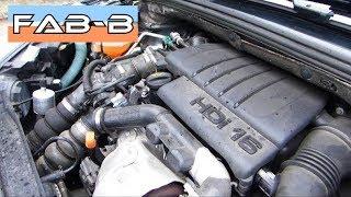 Comment faire une vidange sur moteur 1.6 HDI Peugeot , Citroën, Ford, Volvo...