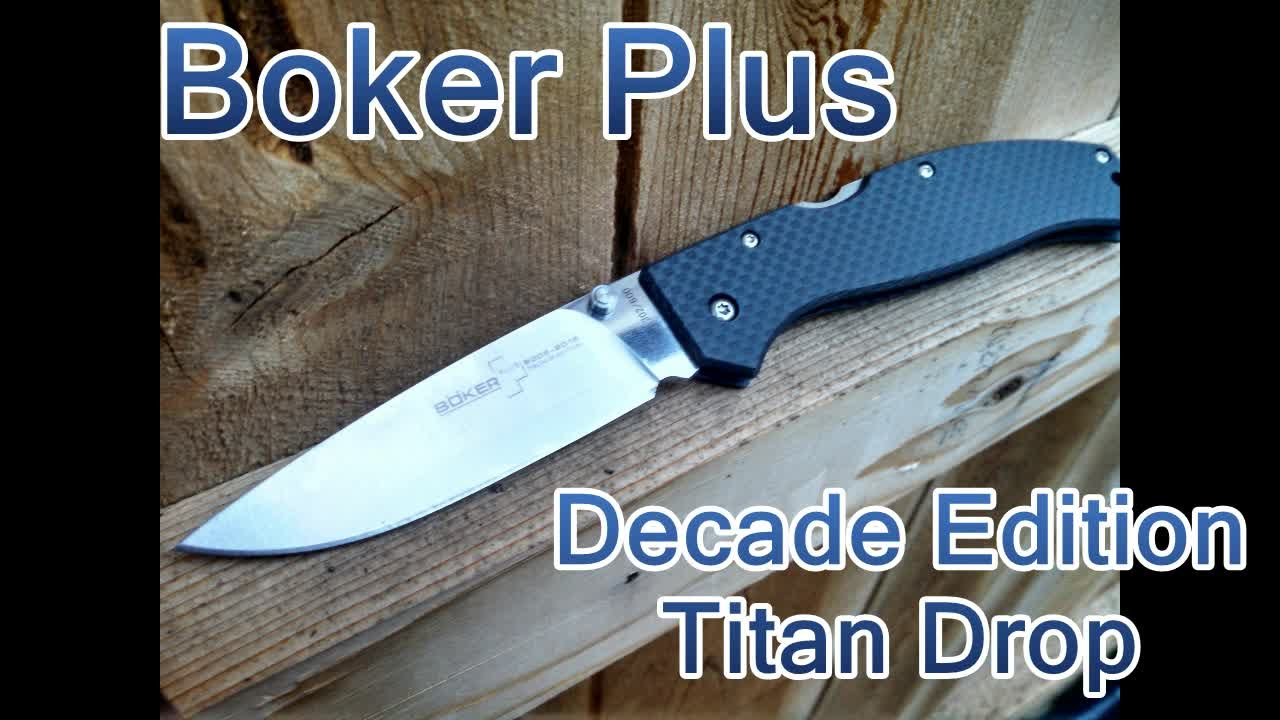 Boker Plus Titan Drop Decade Edition - Slim is in for 2015! - YouTube