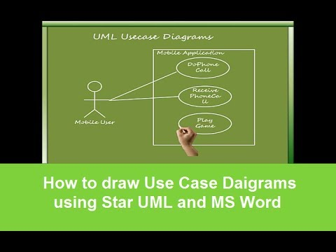 How to draw use case daigrams using star uml and ms word youtube ccuart Gallery