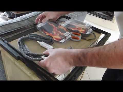 comment changer les joints d'une cheminée joint de l'insert et joint  de la vitre