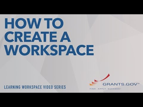 Workspace Overview | GRANTS GOV