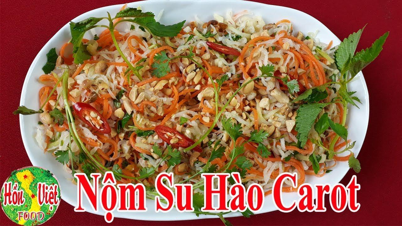 ✅ Cách Làm Nộm Su Hào Cà Rốt Chua Ngọt Giòn Sần Sật Ăn Là Mê | Hồn Việt Food