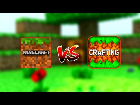 Minecraft Pocket Edition VS Crafting and Building (QUAL O MELHOR/WHICH ONE IS THE BEST) ?!