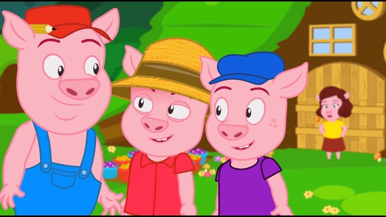 Os 3 Porquinhos Em Português