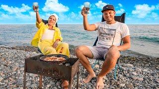 Лазаревское это вам не Сочи Креветки на пляже Отдых на Черном море