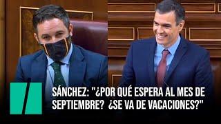 Sánchez, a Abascal sobre la moción: