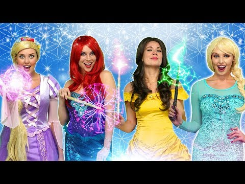 DISNEY PRINCESS MAGIC POWERS. {With Rapunzel, Ariel, Belle, Anna and Elsa)