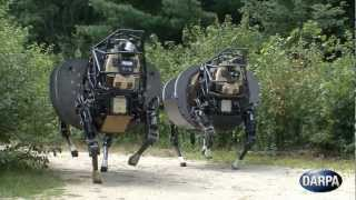 Repeat youtube video DARPA - AlphaDog Legged Squad Support System (LS3) Field Testing [720p]