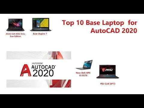 10 Base Laptop For Use Autodesk AutoCAD 2020