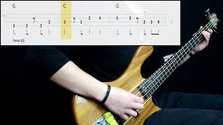 Van Morrison - Brown Eyed Girl (Bass Cover) (Play Along Tabs In Video)
