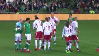 Irland VS Denmark Bendtner straffespark VM Playoff 14 nov 2017