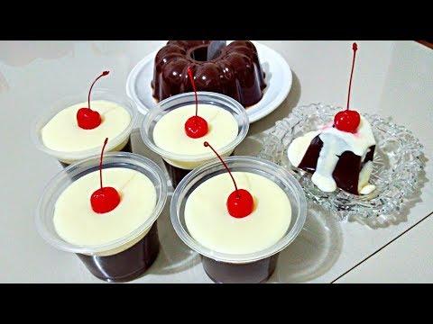 Puding Cokelat + Vla