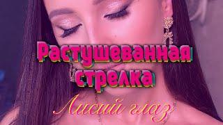 Техника макияжа Растушеванная стрелка или Лисий глаз или макияж Джоли