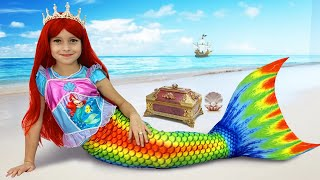 Sofia and the little Mermaid Princess, a Funny kids story about Toys for girls
