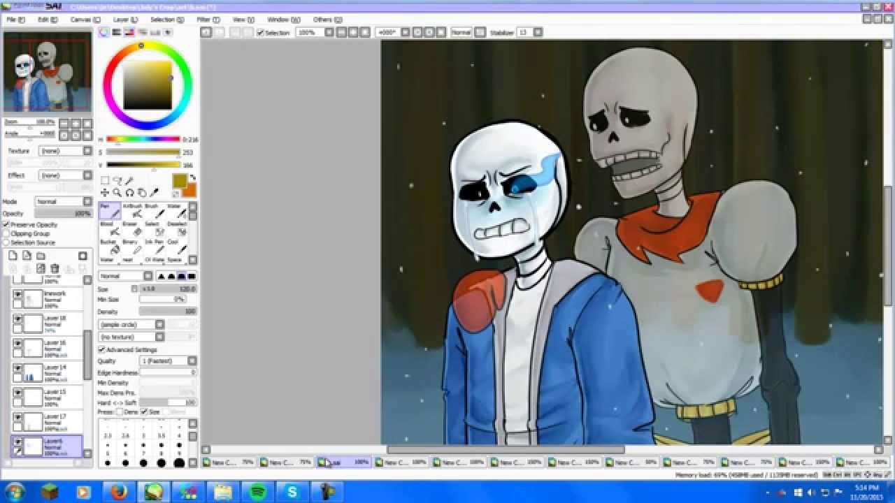 How to Color and Shade Digital Art On the Computer - YouTube