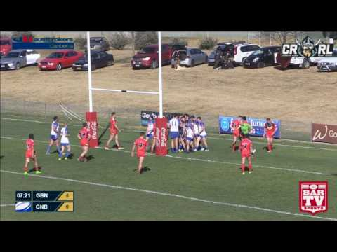 2017 Canberra RL  Round 15 1st Grade - Goulburn Workers Bull