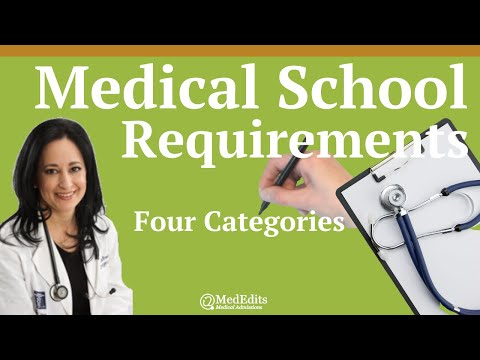 Medical School Requirements: Four Categories | MedEdits