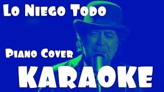 KARAOKE Joaquin Sabina - Lo Niego Todo「Piano Cover」