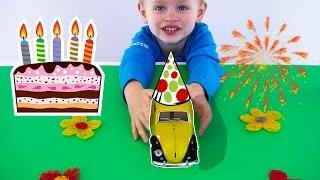 Детский праздник День Рождения машинки ретромобиля Машинки на празднике - веселье для детей