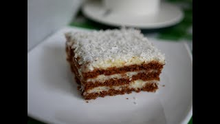 "Торт без выпечки ""КОКОС"". Нежный торт Баунти"