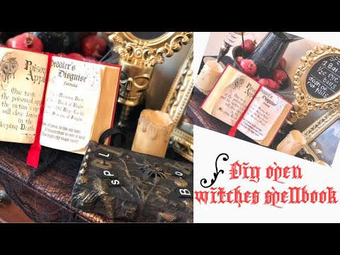 Diy Witches Spell Book | How to antique paper with coffee