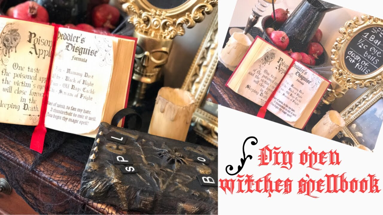 graphic about Printable Spell Book Pages named Do it yourself Witches Spell Ebook How in the direction of antique paper with espresso