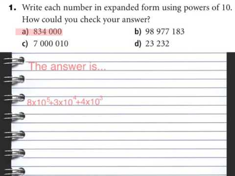 Grade 8 Scientific Notation Expanded Form Using Powers Of 10