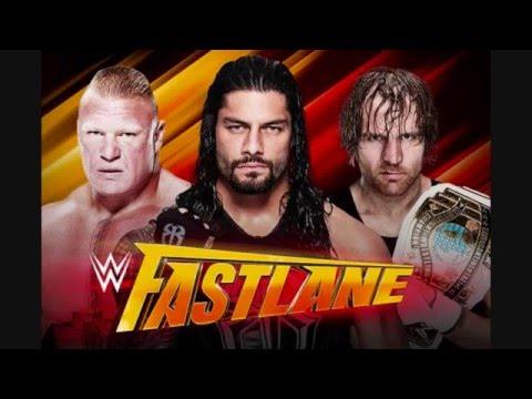 WWE FastLane 2016  Prediction No. 002 (Mr. YingYang)