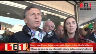 Macri visitó González Catán y afirmó que se ve en el ballotage con el candidato oficialista