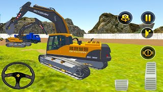 Heavy Excavator Stone Cutter  Dump Truck - Construction Simulator 2021 -  Android Gameplay