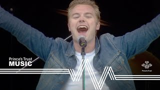 Ronan Keating performing Life Is A Rollercoaster in front of more t...