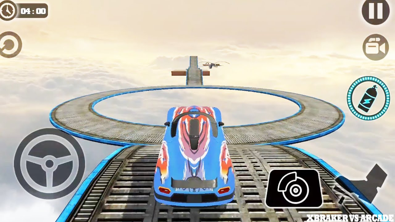 Impossible Car Tracks 3D: Blue Car Driving Simulator Levels 14 & 15 Amzing Stunts - Android Game