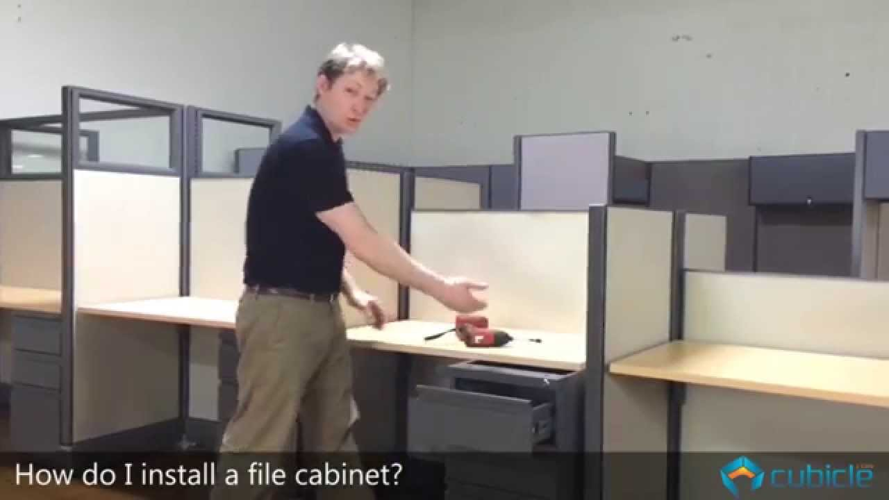How To Install A Cubicle File Cabinet