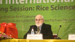 2. Book Launch at International Rice Congress: Rice in the Global Economy