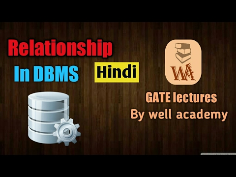 Relationship in DBMS in hindi | Degree,Cardinality,Participation | DBMS gate lectures in hindi | #5