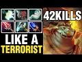LIKE A TERRORIST!!! - TECHIES WITH 42 KILLS - SUBSCRIBER REPLAY - Dota 2