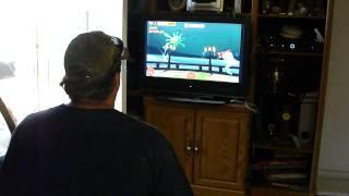 Scott playing Chicken Blaster 2