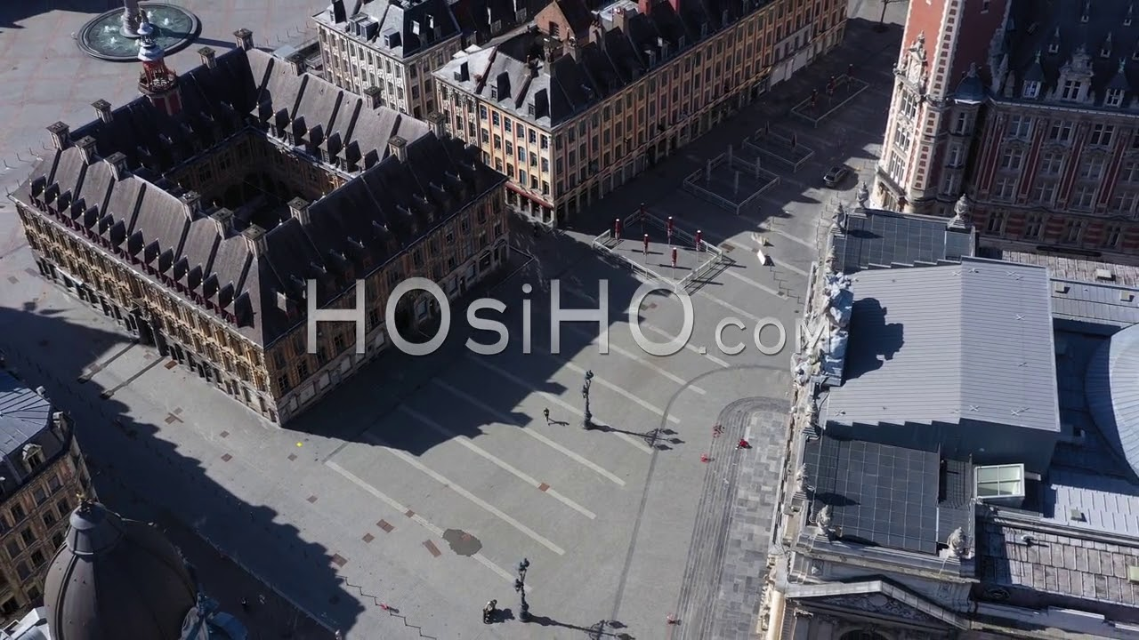 Download Drone Aerial Video Of Lille Empty City Center, Filmed By Drone During Covid-19 Outbreak, France