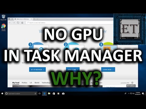 Why You Cannot See Your GPU Monitor In Task Manager | Windows 10 Fall  Creators Update